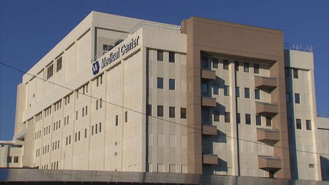 A exterior view of the VA medical center in Phoenix (Source: KPHO/KTVK)
