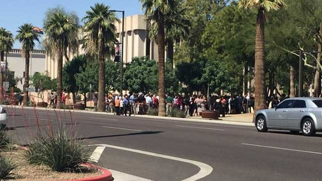 The Arizona Attorney General's Office in Phoenix was evacuated due to a bomb threat. (Source: Arizona Attorney General Mark Brnovich)