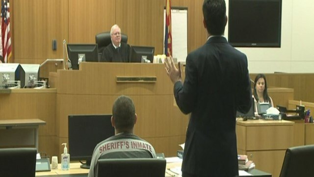 The man accused in the Phoenix freeway shootings appeared in court Thursday morning for a pretrial conference. (Source: KPHO/KTVK)