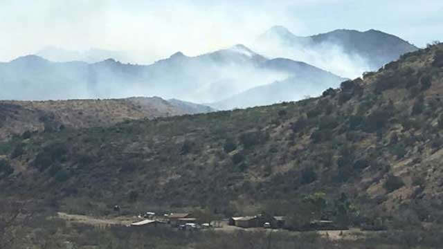 Baker Canyon Fire on March 24 (Source: BLM Arizona)