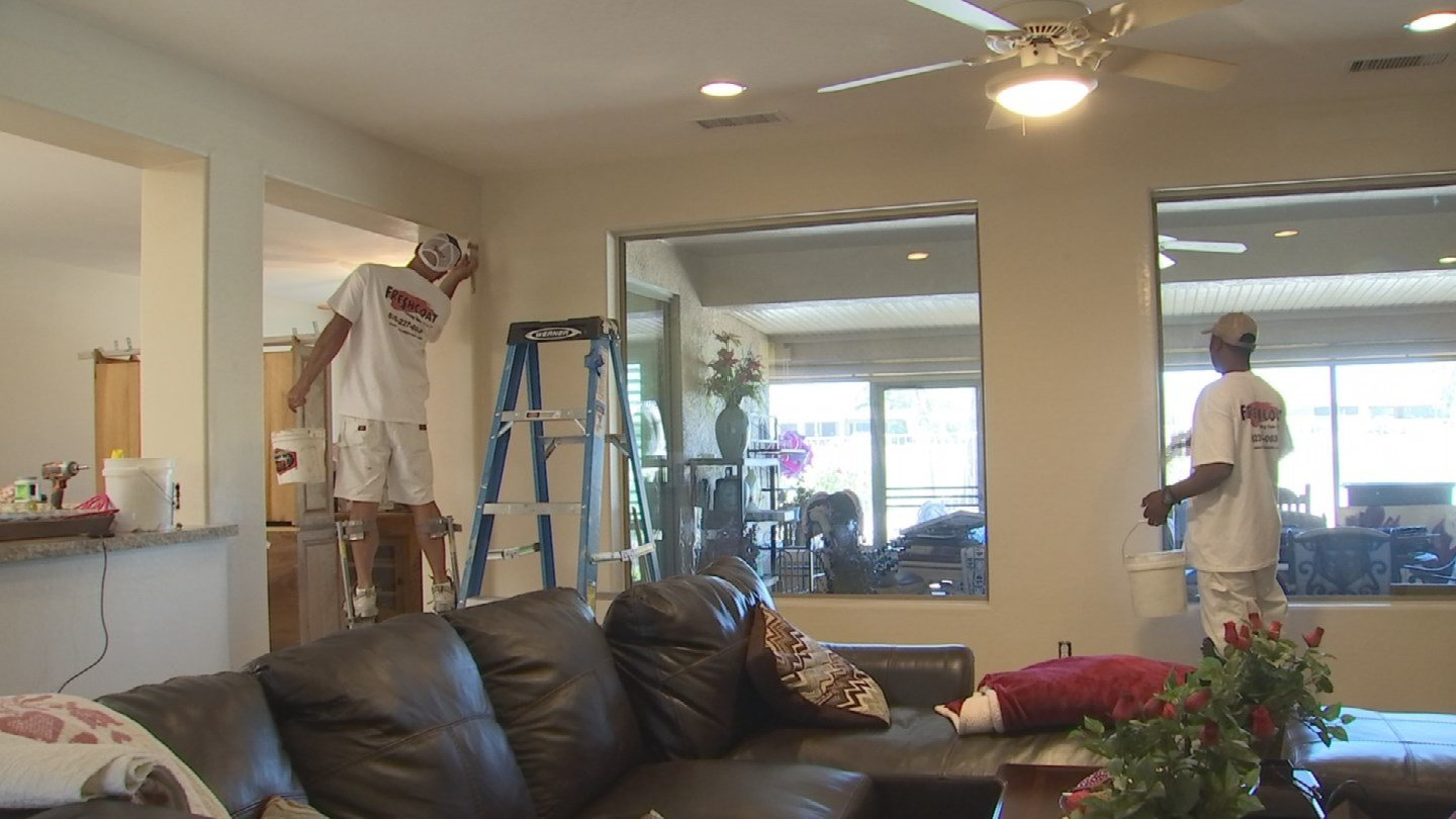 Fresh Coat painters painted Mason's house for free. (Source: KPHO/KTVK)