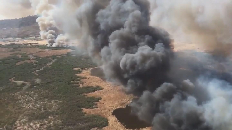 Topock Fire (Source: KPHO/KTVK)