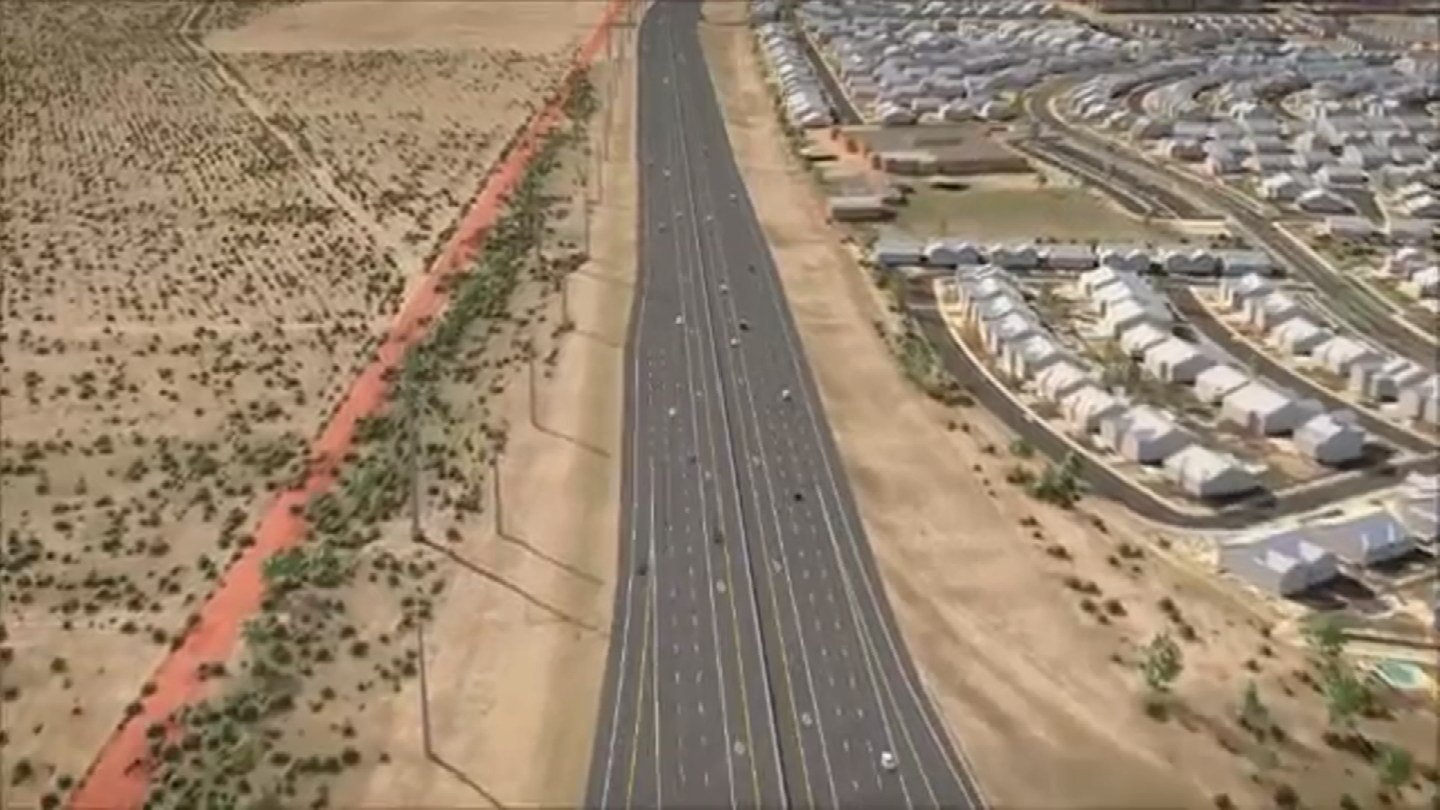 ADOT animation shows proposed South Mountain Freeway. (Source: ADOT)