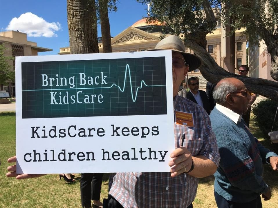 Dozens rallied at the state Capitol in April hoping lawmakers will bring back KidsCare (Source: KPHO/KTVK)