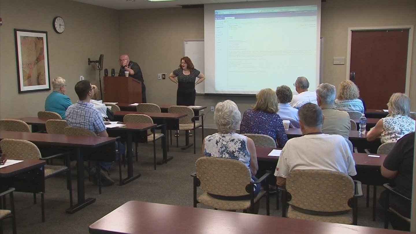 People showed up for a seminar Monday on the Zika virus in Mesa. (Source: KPHO/KTVK)