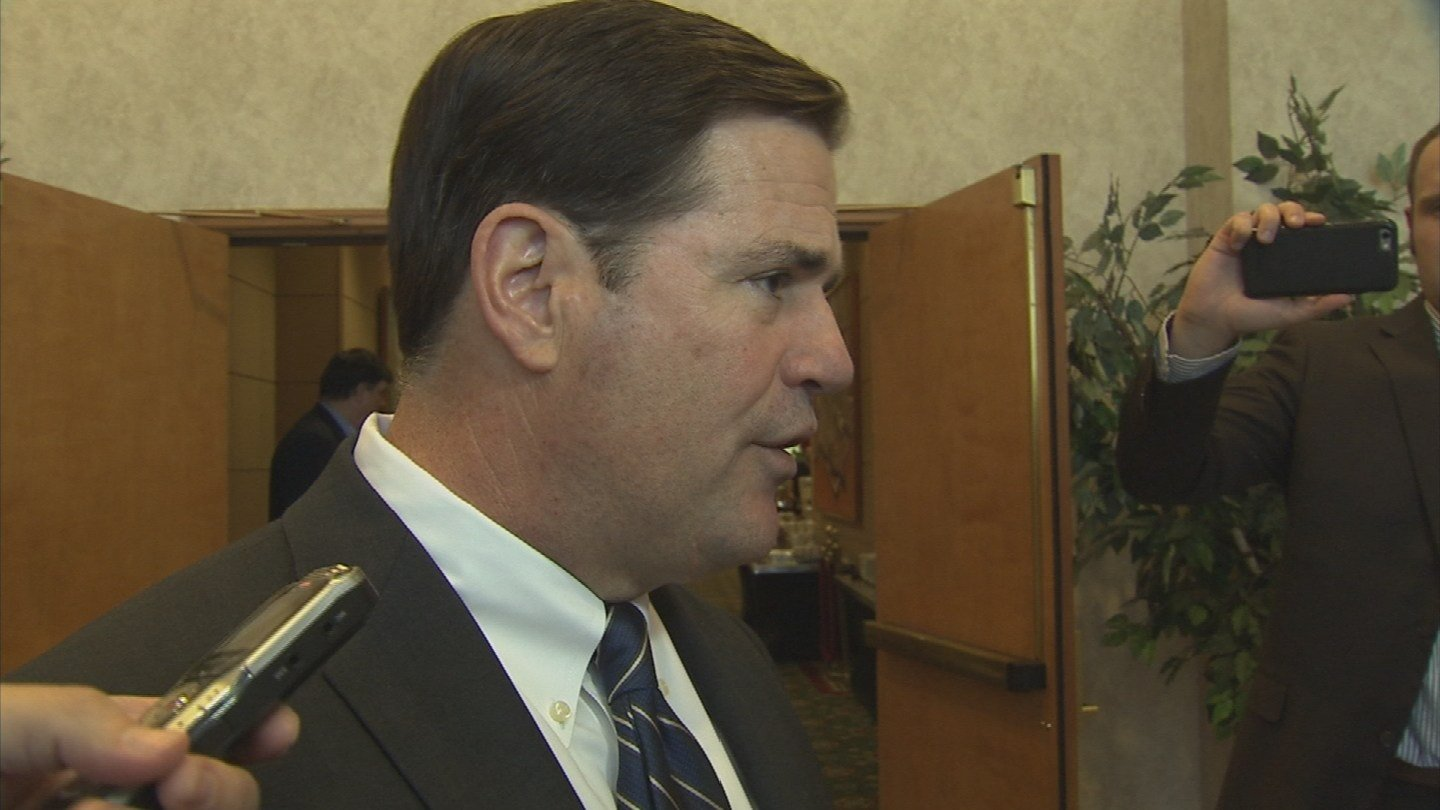 """This case is in the courts, and I'm gonna let the judicial branch do their job, and I'm certain we'll get a fair result,"" Gov. Doug Ducey said the day after the primary suspect was released from jail. (Source: KPHO/KTVK)"