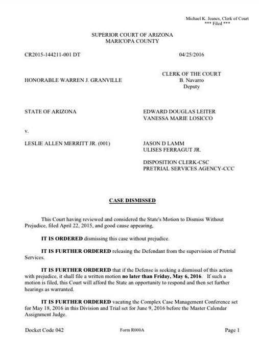 Judge Warren Granville's court order issued Monday morning. (Source: KPHO/KTVK)