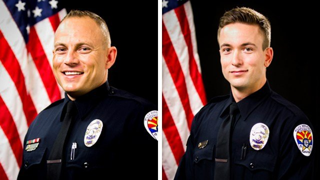 Officers Joshua Pueblo (left) andDaniel Colwell. (Source: Chandler Police Department)