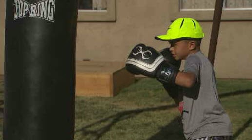 Ray Maldonado is going for the gold in the regional Jr. Olympics (Source: KPHO/KTVK)