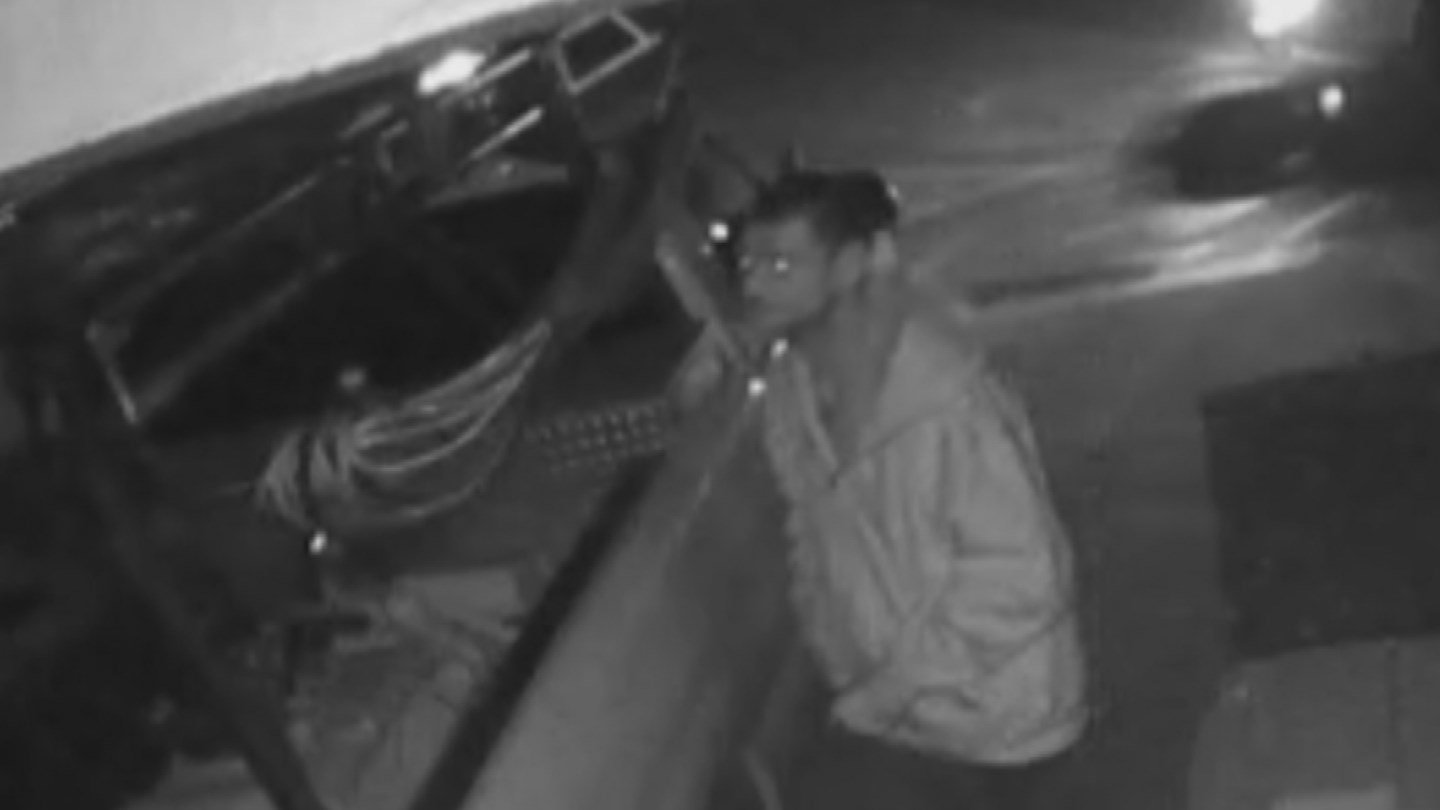 A couple's home security camera captured video of a would-be thief checking out their vehicle about 2:30 Tuesday morning. (Source: Mary and Dwight Weller)