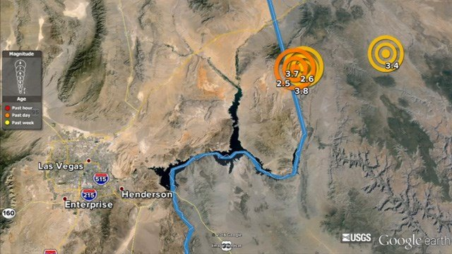 The earthquake swarm is situated near a small fault line of only about 10 miles. (Source: KPHO/KTVK)