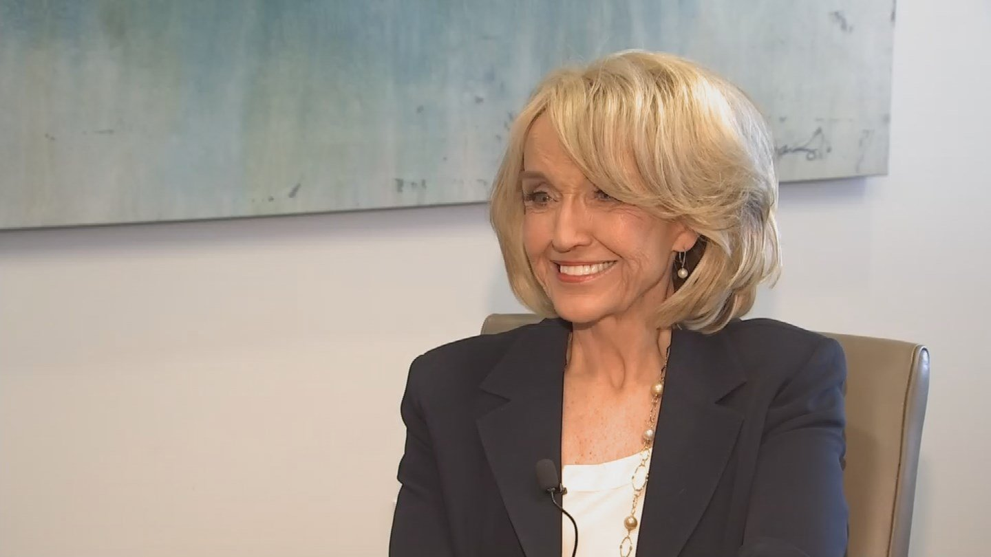 """It would be an honor, of course, to be vice president, to serve in that capacity, but it's not up to me,"" former Gov. Jan Brewer said Monday. (Source: KPHO/KTVK)"