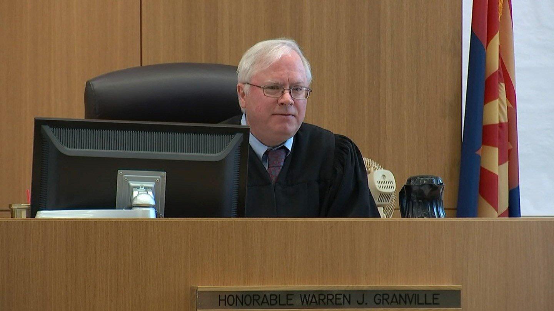 Judge Warren Granville at Tuesday's court proceeding. (Source: KPHO/KTVK)