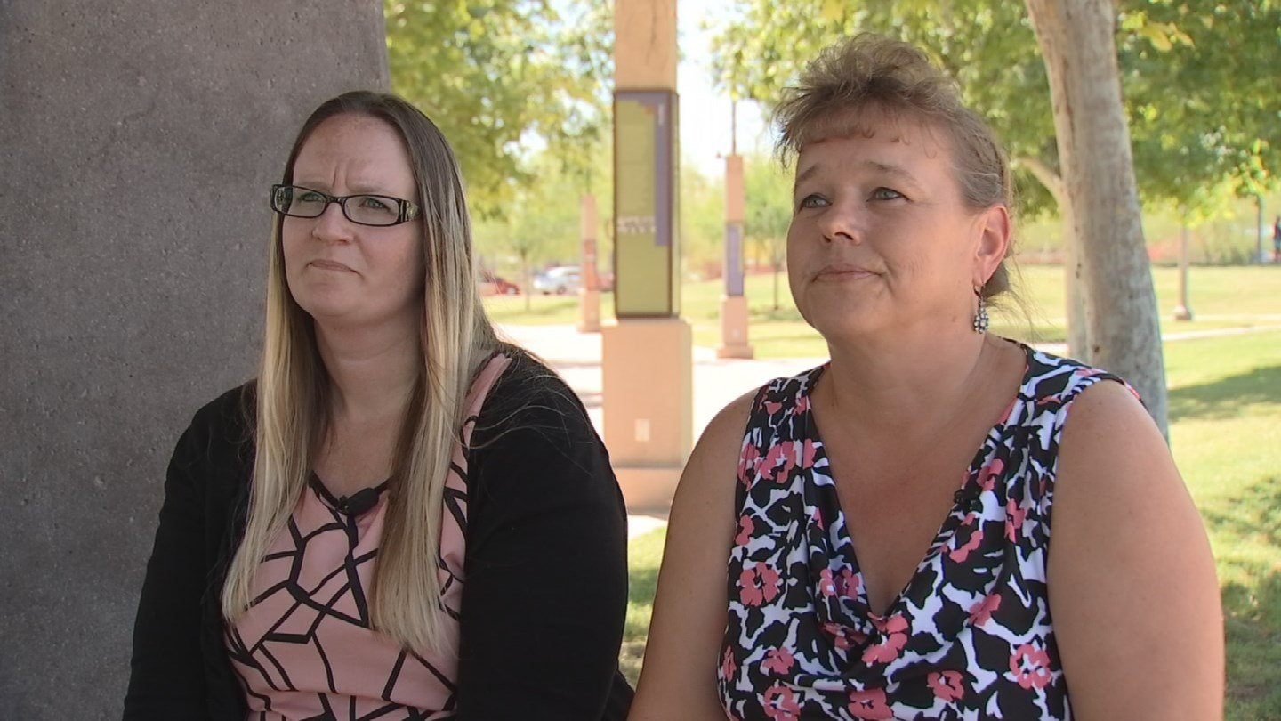 Marci Jarome, left, and Pauline DeWenter said they're being stonewalled by their manager at the Phoenix VA (Source: KPHO/KTVK)