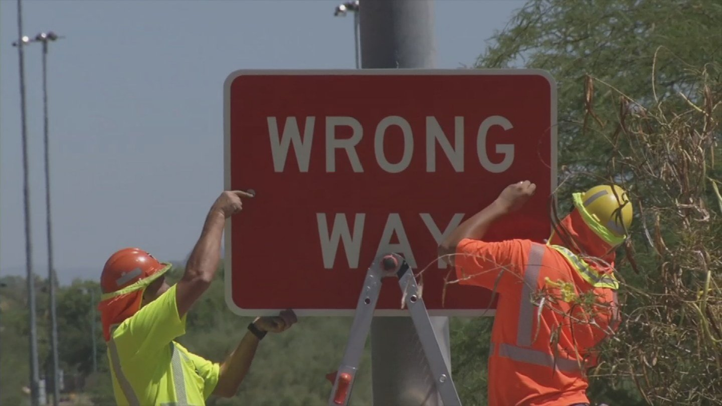 ADOT is putting up more signs to prevent wrong-way drivers (Source: KPHO/KTVK)