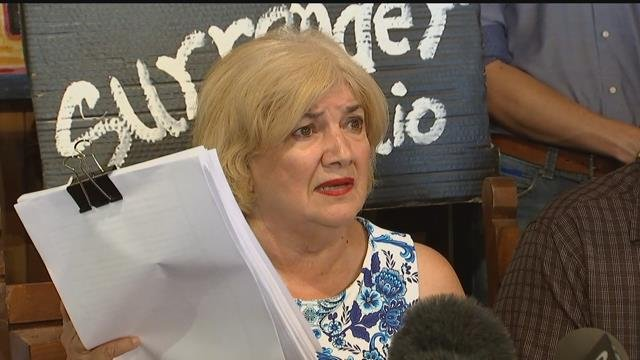 Former Maricopa County Board Supervisor Mary Rose Wilcox held up the judge's decision at a news conference Friday afternoon at which several member of the Latino community praised the decision to hold Arpaio in civil contempt. (Source: KPHO/KTVK)