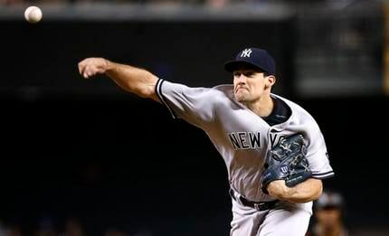 New York Yankees' Nathan Eovaldi throws a pitch against the Arizona Diamondbacks during the first inning of a baseball game Wednesday, May 18, 2016, in Phoenix. (AP Photo/Ross D. Franklin)