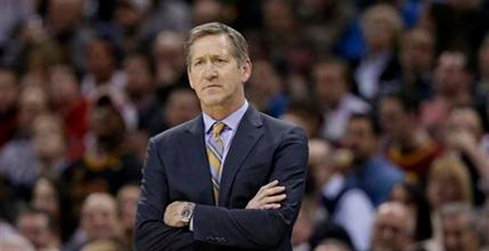 In this Jan. 27, 2016, file photo, Phoenix Suns coach Jeff Hornacek watches the team's NBA basketball game against the Cleveland Cavaliers in Cleveland. (Source: AP Photo/Tony Dejak, File)