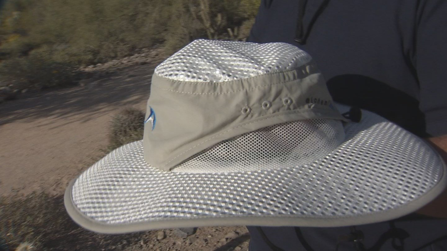 A Scottsdale startup has created special hats to protect your skin. (Source: KPHO/KTVK)
