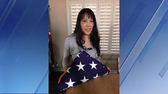 Lisa Gomez bought U.S. flag at flea market (Source: KPHO/KTVK)