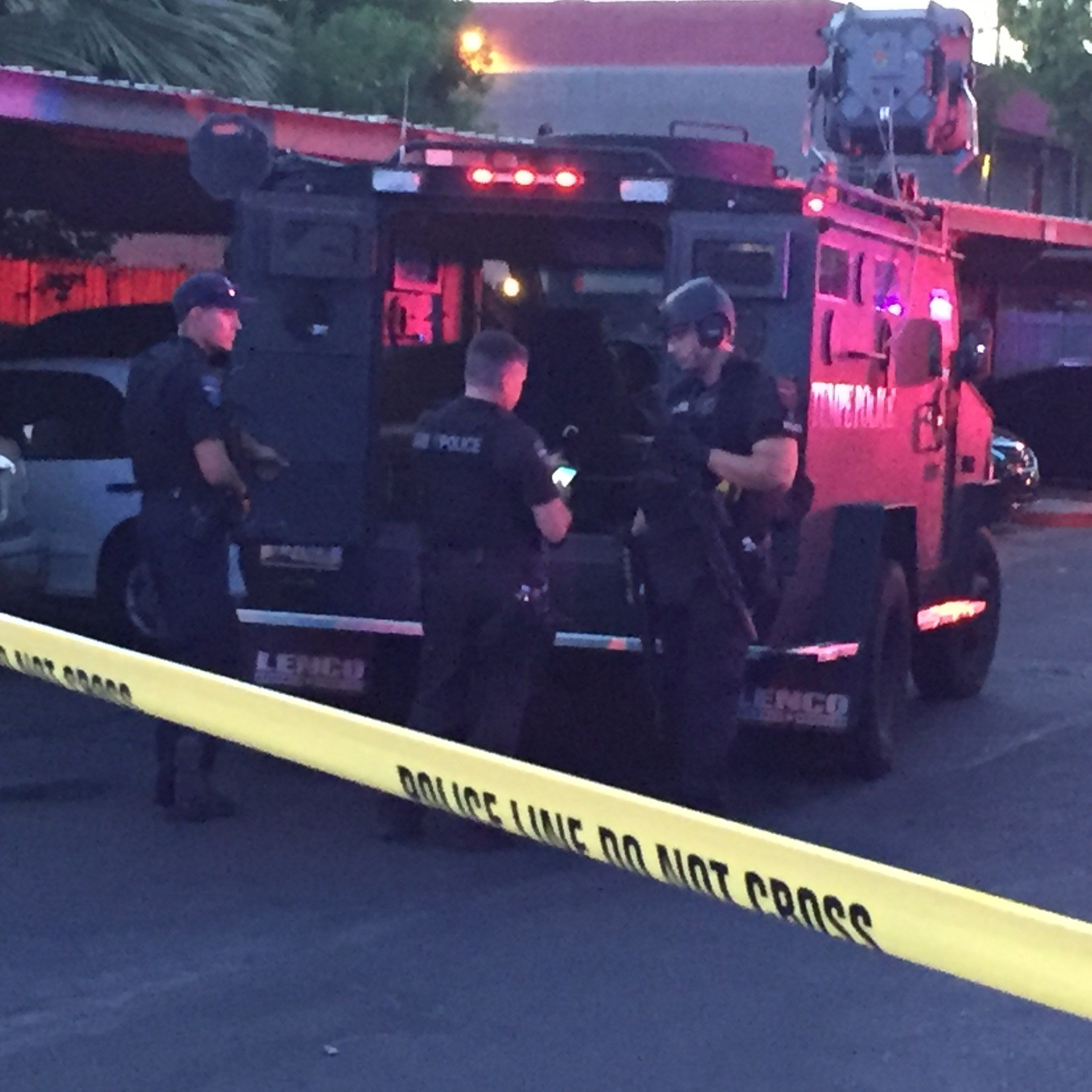 A man with a gun is refusing to come out of his Tempe apartment, police said. (Source: KPHO/KTVK)