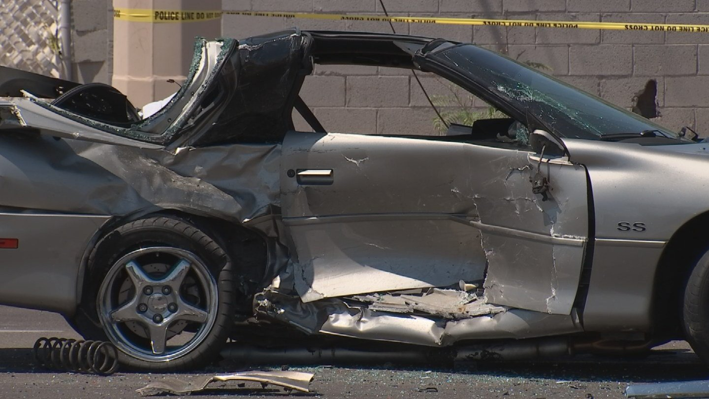 The 17-year-old passenger in the Camaro died. (Source: KPHO/KTVK)