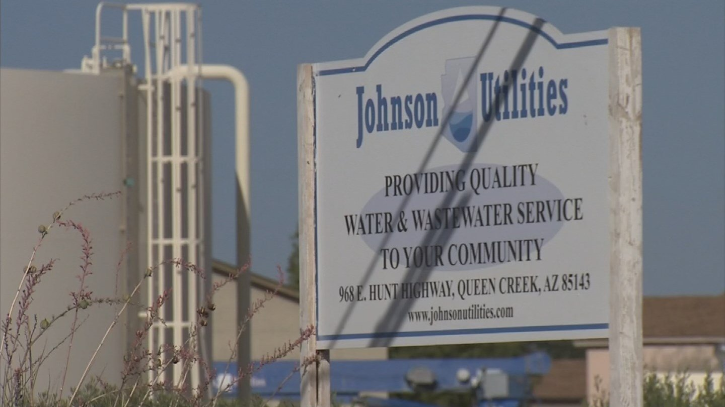 Residents are upset at Johnson Utilities over sewage coming out of a manhole. (Source: KPHO/KTVK)