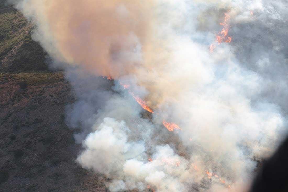 Aerial view of Tenderfoot Fire burning near Yarnell (Source: KPHO/KTVK)