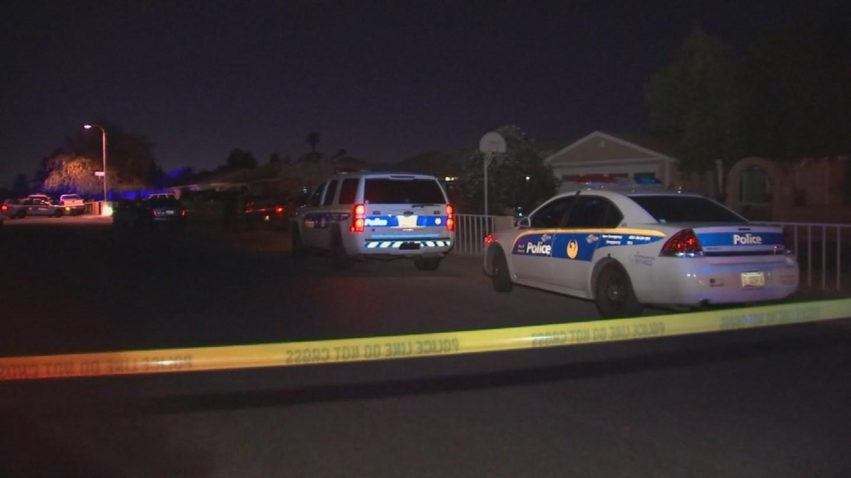 Three people were shot outside a Phoenix home. (Source: KPHO/KTVK)