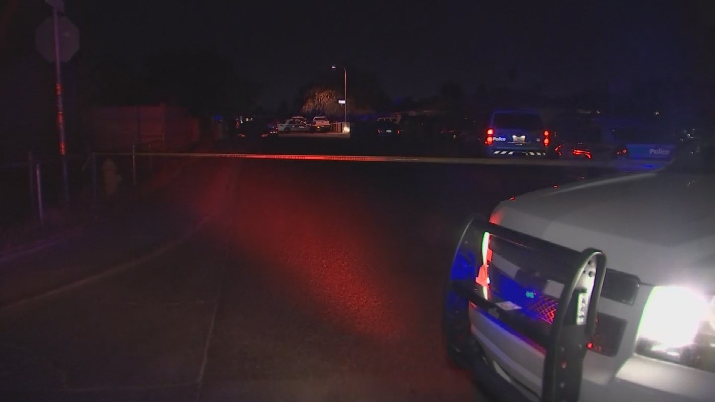 Three people were shot outside a Phoenix home. (Source: KPHO/KTVK)