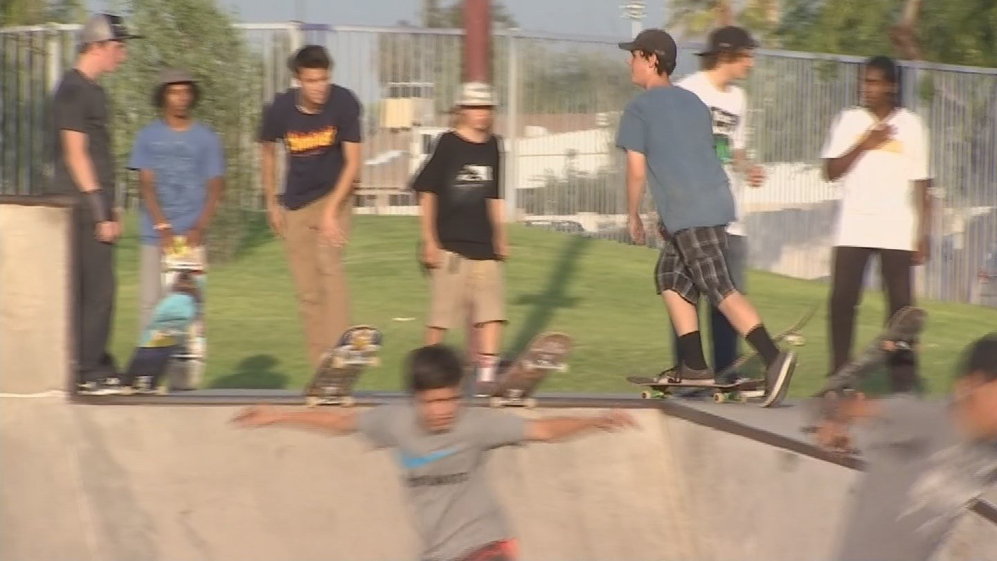 The heat didn't stop skateboarders from celebrating National Go Skateboarding Day. (Source: KPHO/KTVK)