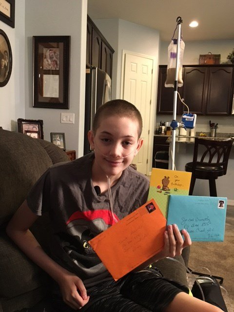 Jacob Priestley, 13, is trying to get more than 10,000 birthday cards