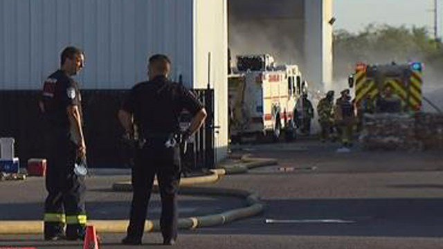 Fire at Chandler recycling plant at 1100 North Hamilton St. (Source: KPHO/KTVK)
