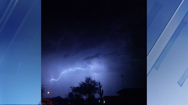 The Valley saw lightning and little bit of rain. (Source: Patrick Berney)