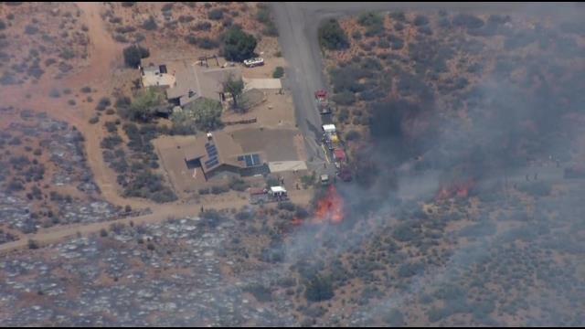 Raw video: Aerial view of Bug Creek Fire