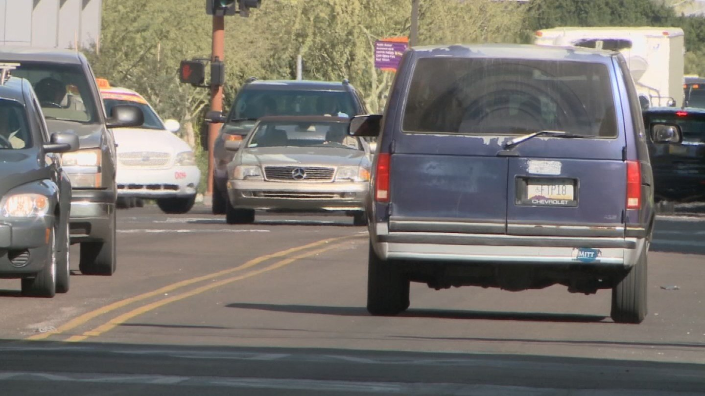 ASU researchers are currently experimenting with different types of cement, asphalt and coatings to lower theUrban Heat Island effect. (Source: KPHO/KTVK)