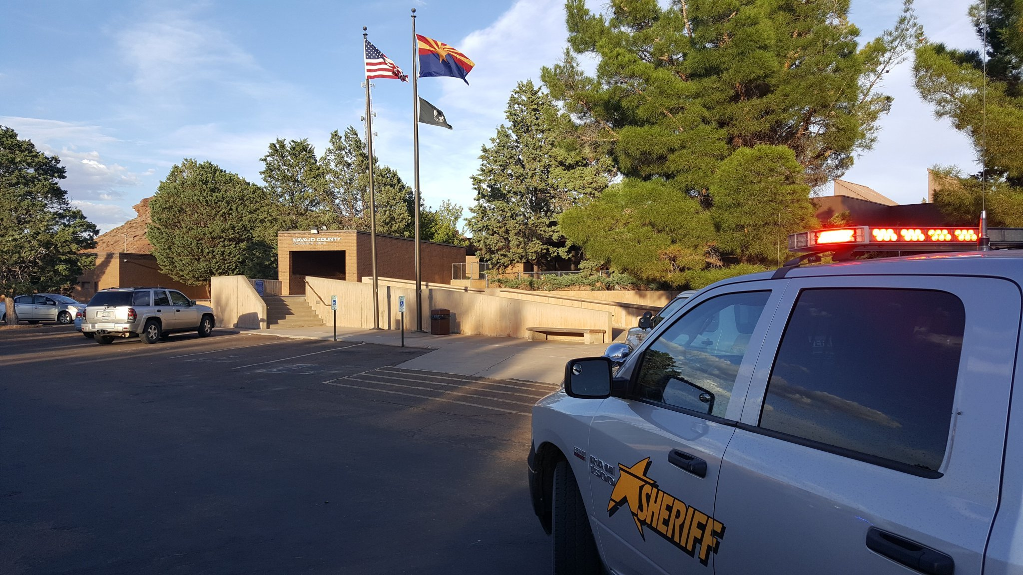 Two women were shot outside the courthouse in Navajo County. (Source: Navajo County)