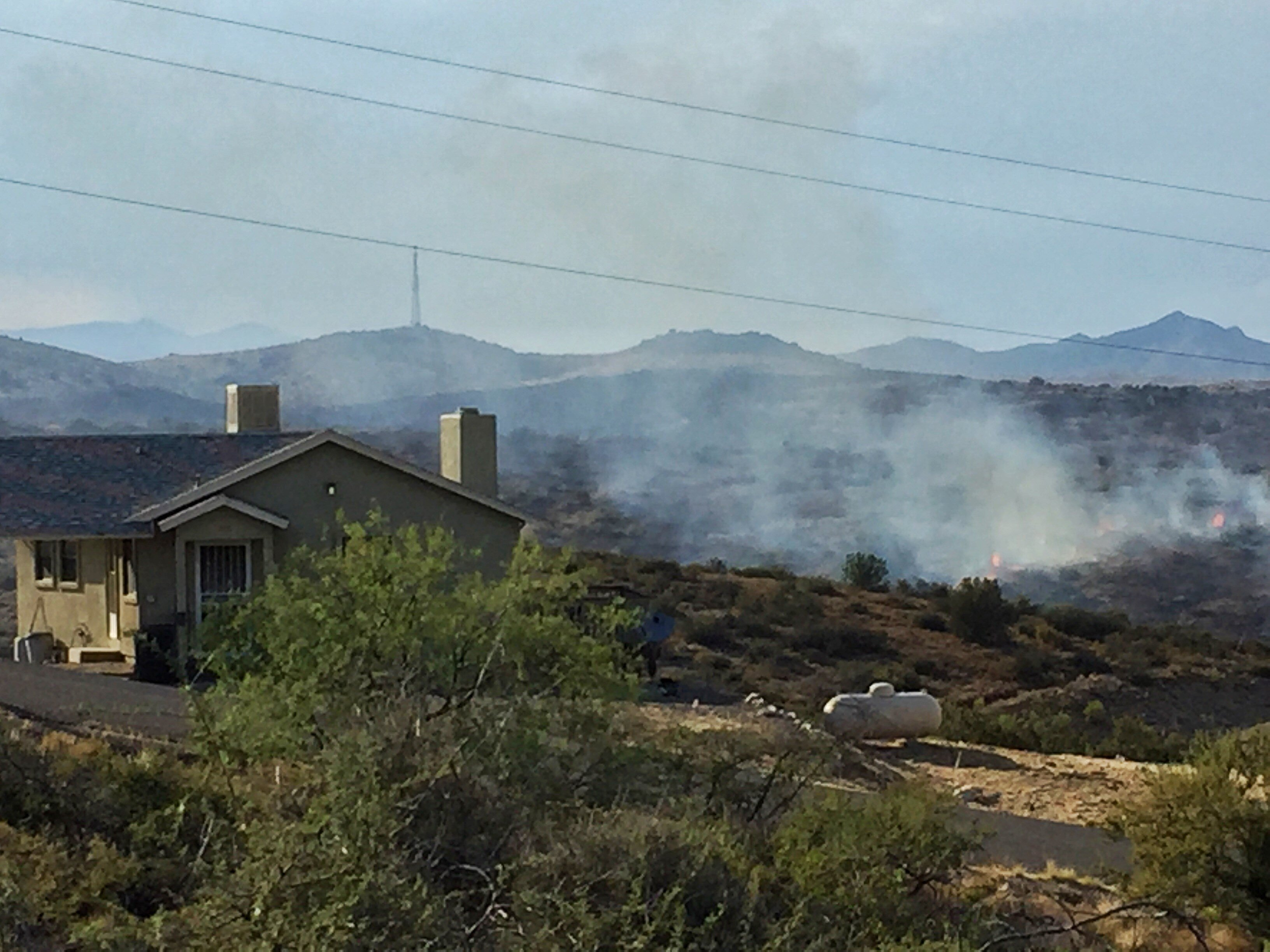 The Bug Creek Fire got close to Ed Lucas' home of 45 years. (Source: KPHO/KTVK)