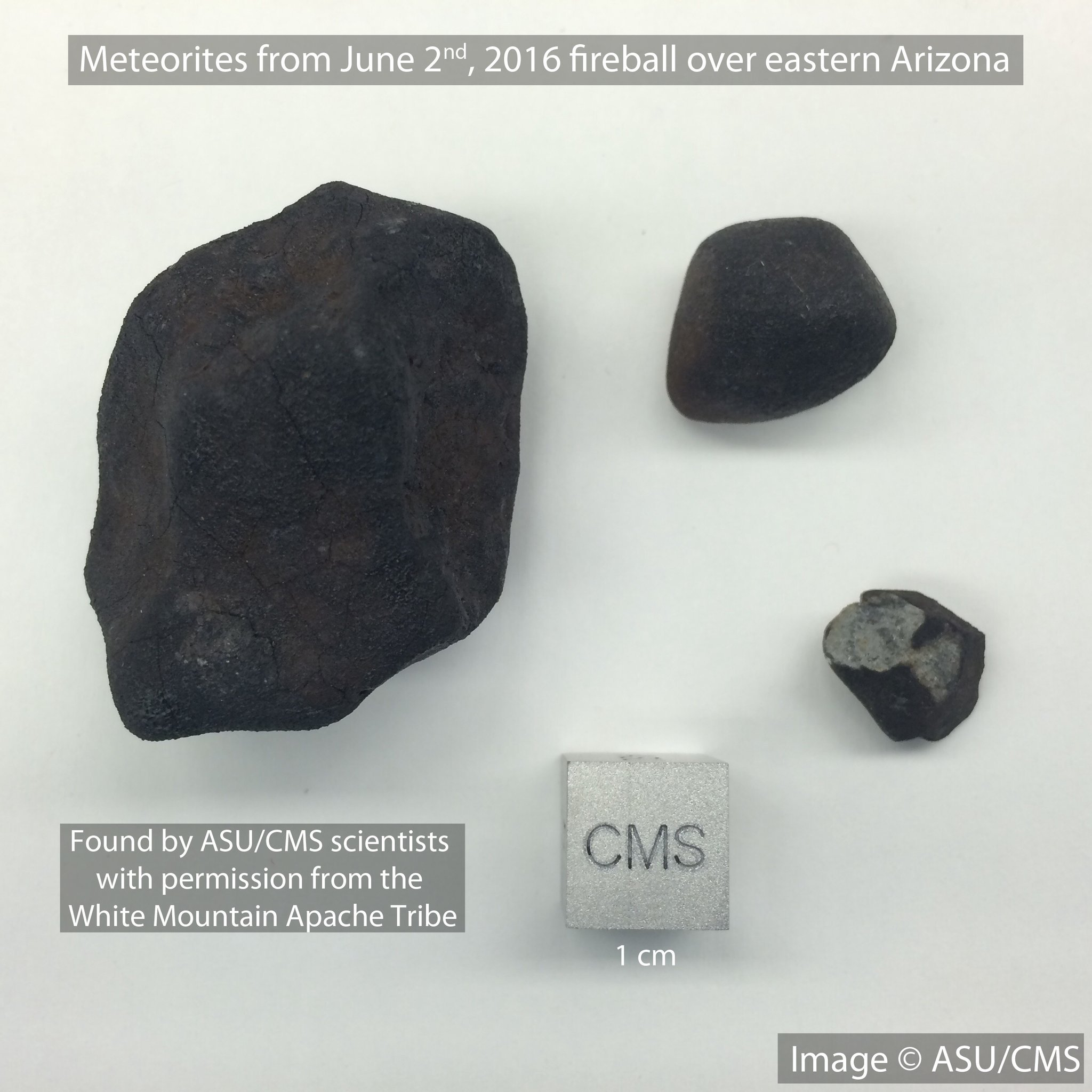 Arizona State University says researchers have found pieces of a small asteroid spotted over eastern Arizona earlier this month. (Source: ASU)