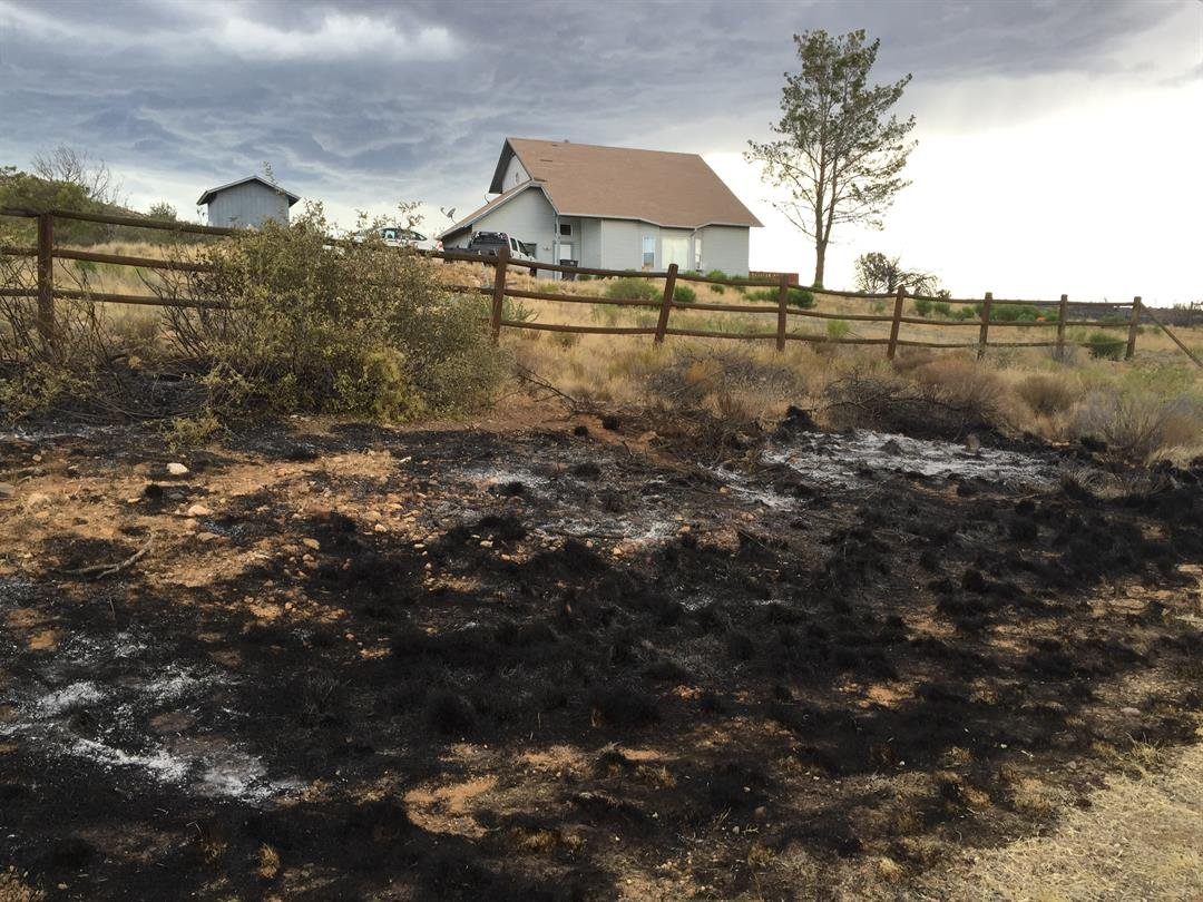 The Bug Creek Fire got within feet of some homes. (Source: KPHO/KTVK)