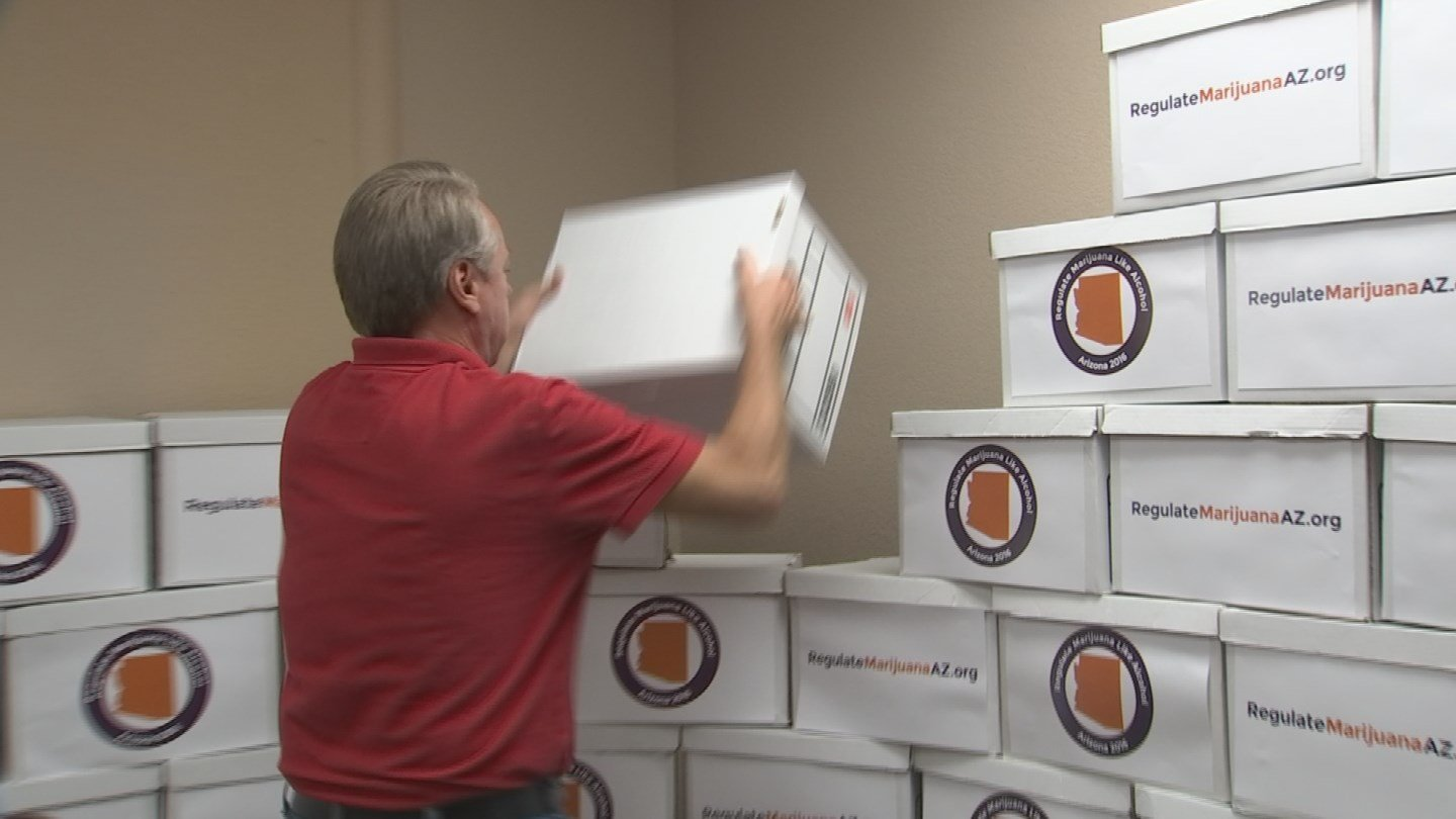 The group needs at least 150,000 verified signatures to get the measure on the November ballot. (Source: KPHO/KTVK)