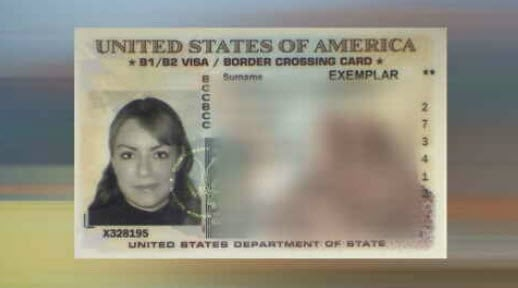 Border Crossing Card. (Source: KPHO/KTVK)