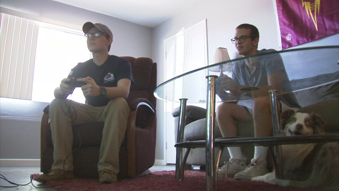 Ely Burke, right, created RentHoop to make is easier to find a roommate. (Source: KPHO/KTVK)