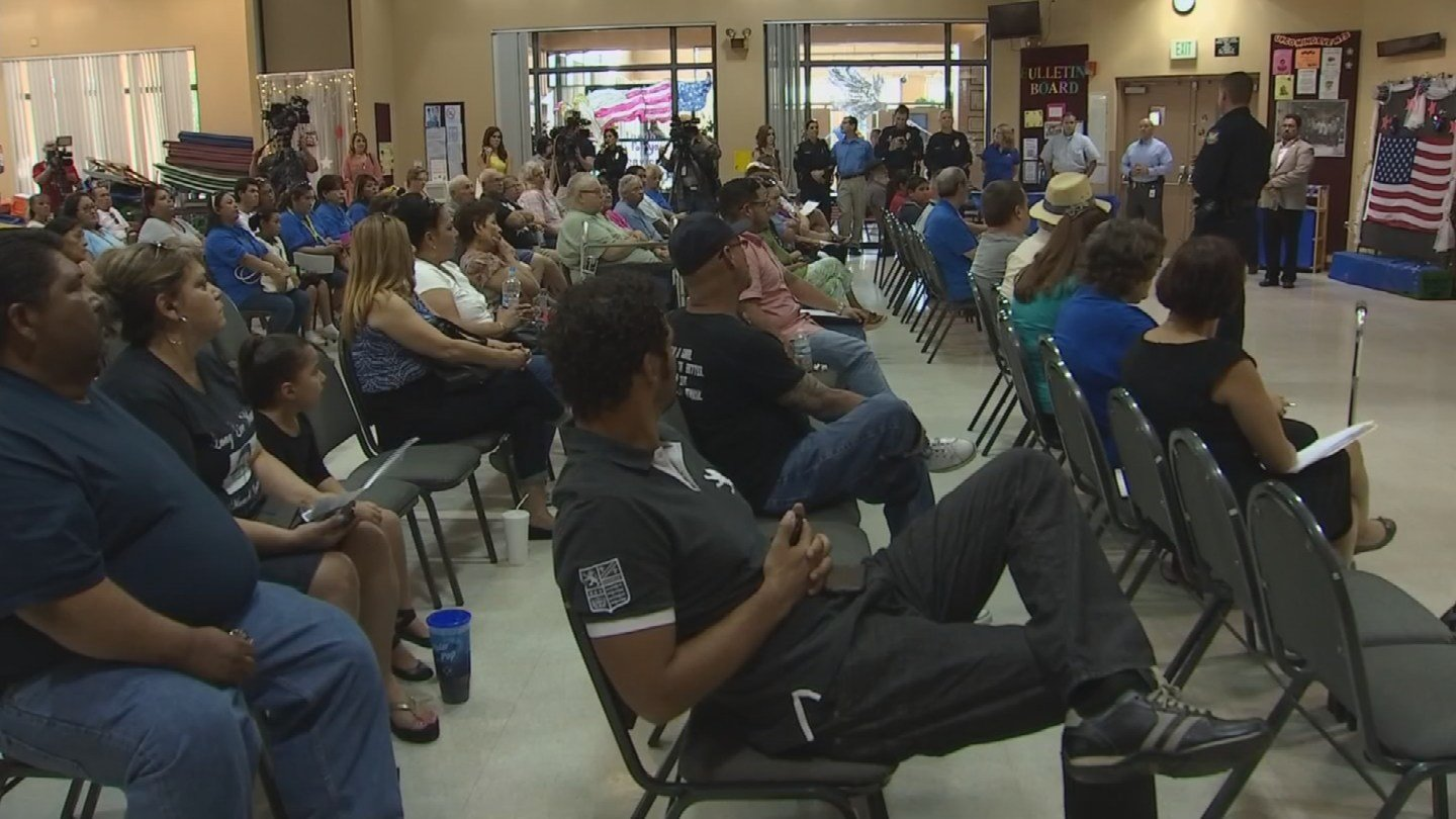 Dozens came out for a community to discuss the series shootings in the Maryvale neighborhood. (Source: KPHO/KTVK)