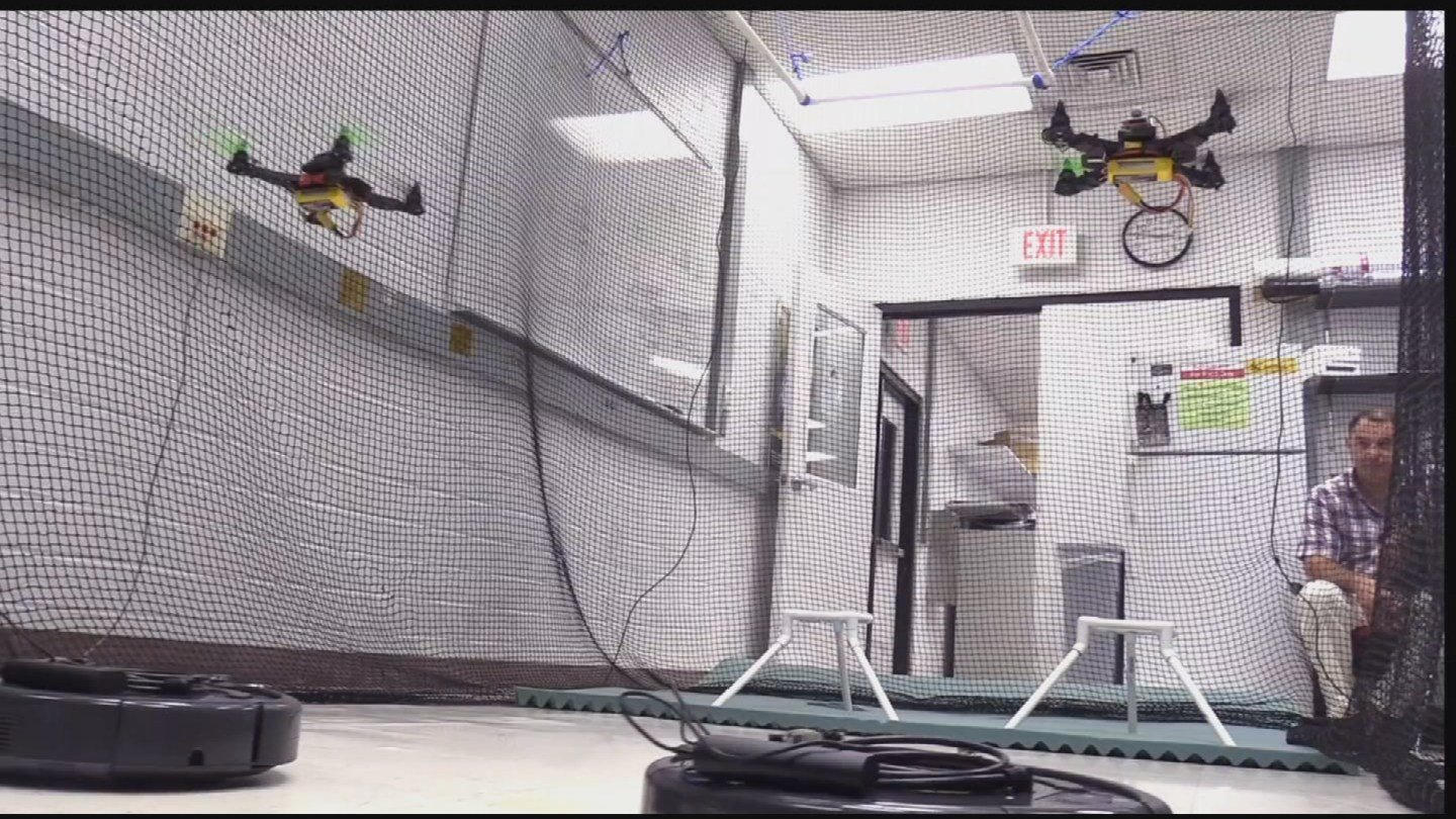 ASU researchers are testing the power using the brain to control drones on a small group of them. (Source: KPHO/KTVK)
