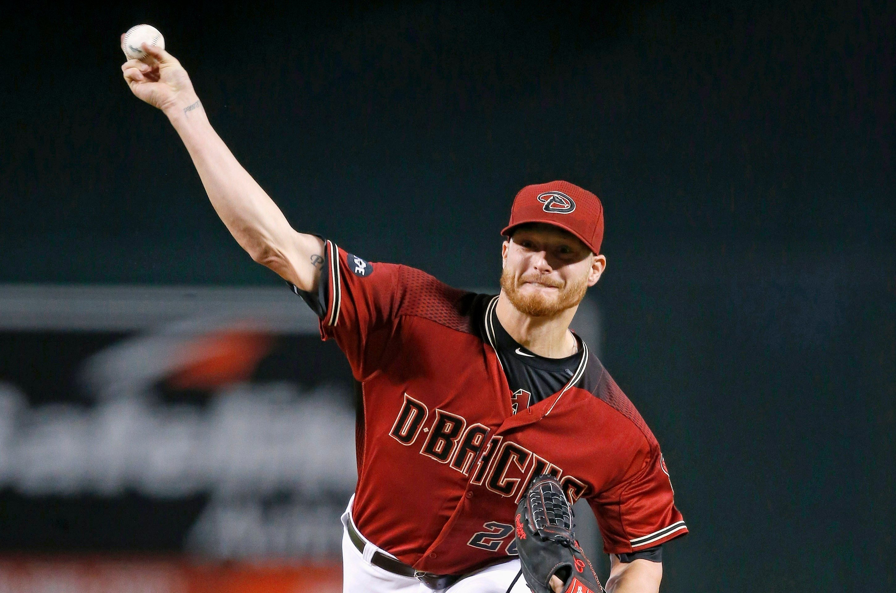 Arizona Diamondbacks' Shelby Miller throws a pitch against the San Diego Padres during the first inning of a baseball game Wednesday, July 6, 2016, in Phoenix. (AP Photo/Ross D. Franklin)