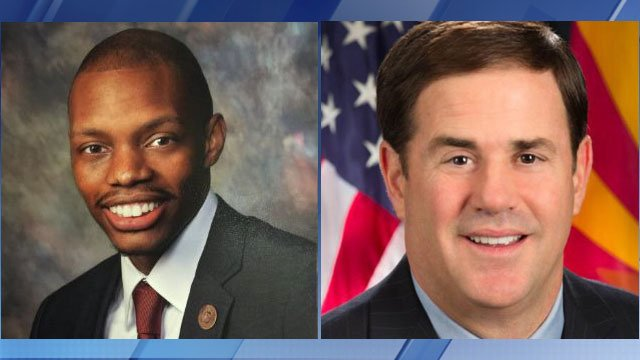 Rep. Reginald Bolding (left) said Gov Doug Ducey requested a meeting with local black leaders last week. (Source: LinkedIn)