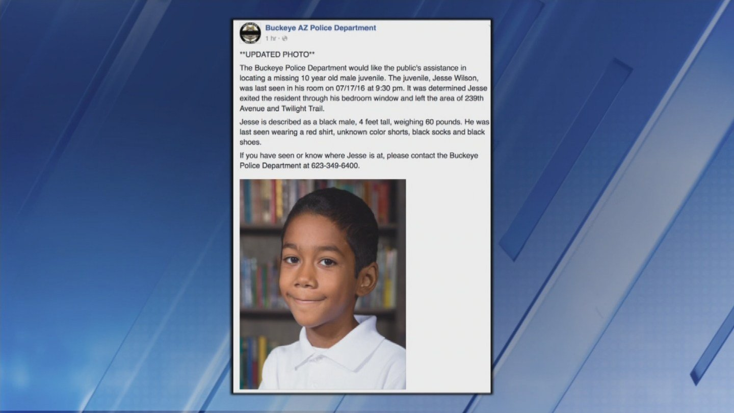 Search for missing boy in Buckeye to resume Thursday