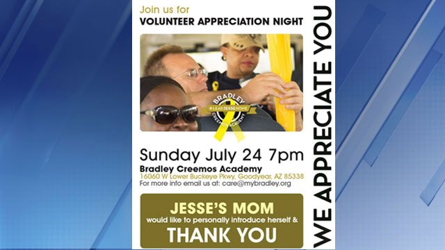 Volunteer Appreciation Night for those looking for Jesse Wilson (Source: Bradley Academy of Excellence)