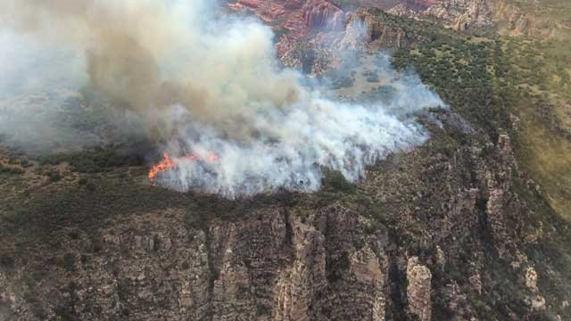 Point Fire on July 22, 2016 (Source: Coconino National Forest)